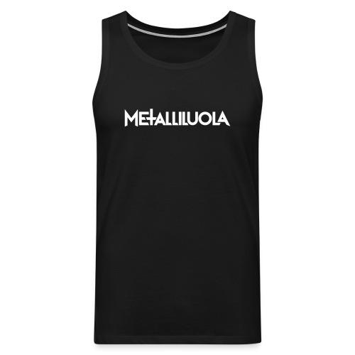 Metalliluola logo - Miesten premium hihaton paita