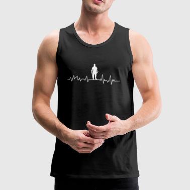 Heartbeat Carpet Casual T-shirt van de gift ambachtslieden - Mannen Premium tank top