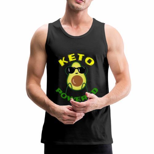 Keto powered - Keto Low Carb T-Shirt - Männer Premium Tank Top