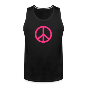 Gay pride peace symbool in roze kleur - Mannen Premium tank top