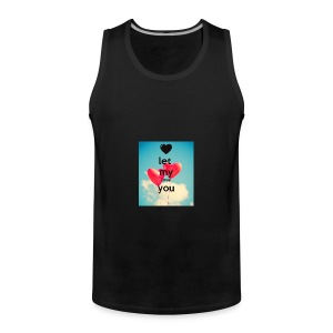 let my love you 1 - Mannen Premium tank top