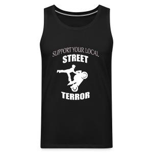 Streetterror Support - Miesten premium hihaton paita
