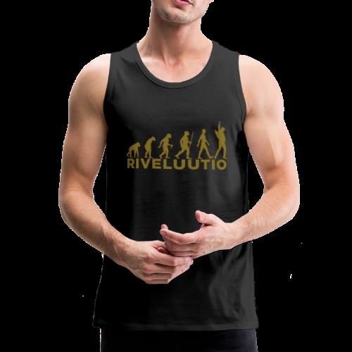 Riveluutio - Miesten premium hihaton paita