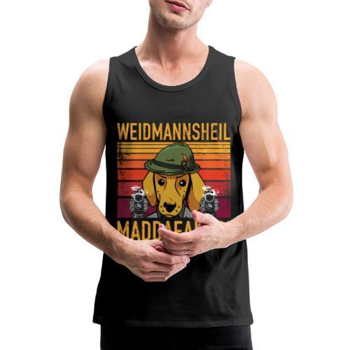 Weidmannsheil Maddafakas! Dackel Jäger Vintage fun - Männer Premium Tank Top