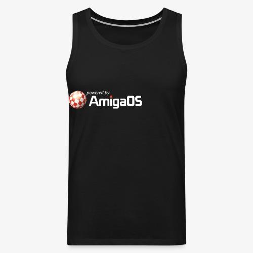 PoweredByAmigaOS white - Men's Premium Tank Top