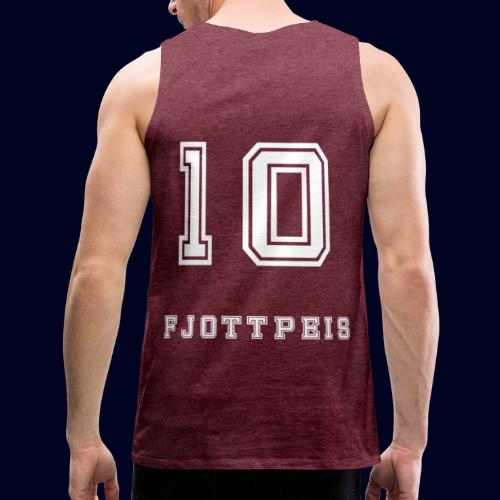 10 Fjottpeis - Premium singlet for menn