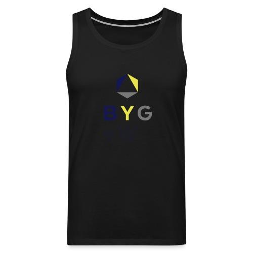 BYG+White Logo Hoodie - Men's Premium Tank Top