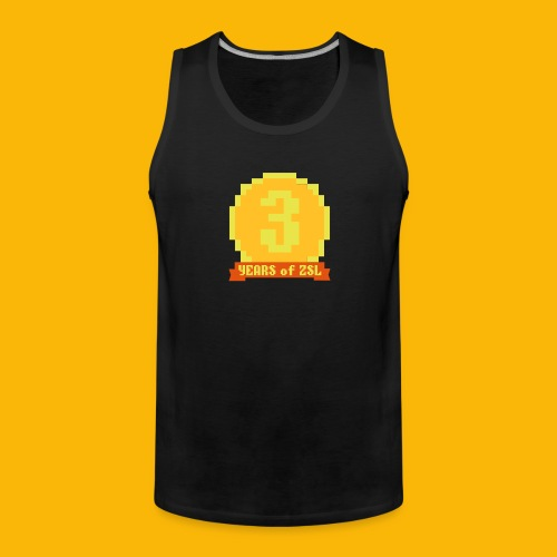 3YearBadge_3colours - Männer Premium Tank Top