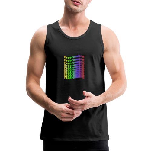 Freerunning Rainbow - Herre Premium tanktop