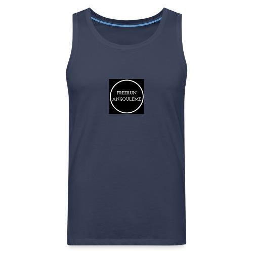 Freerun Angouleme noir logo - Débardeur Premium Homme