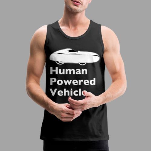Quest Human Powered Vehicle 2 white - Miesten premium hihaton paita