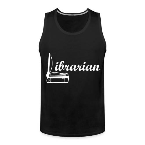 0325 Librarian Librarian Cool design - Men's Premium Tank Top
