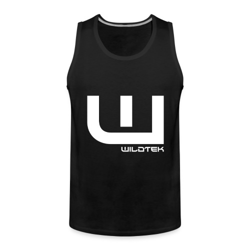 Wildtek Logo White - Men's Premium Tank Top