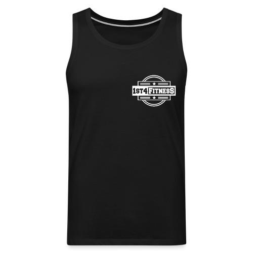 1st4Fitness White Back & Front - Men's Premium Tank Top