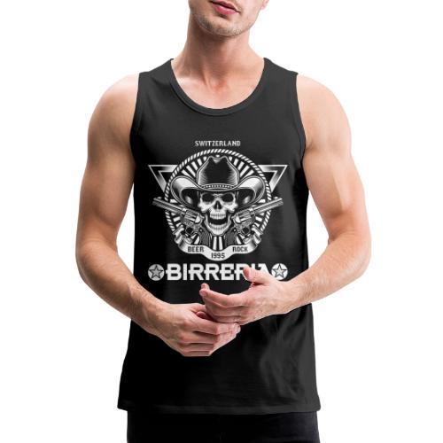 Sheriff Skull with Revolver - Männer Premium Tank Top