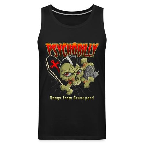 pycho skull unido - Tank top premium hombre