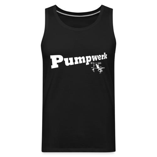 Pumpwerk bench white - Männer Premium Tank Top