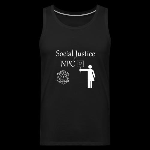 Social Justice NPC - Men's Premium Tank Top