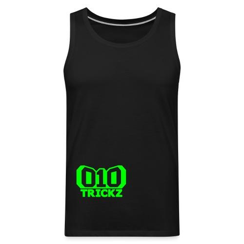 logo zwart wit - Mannen Premium tank top