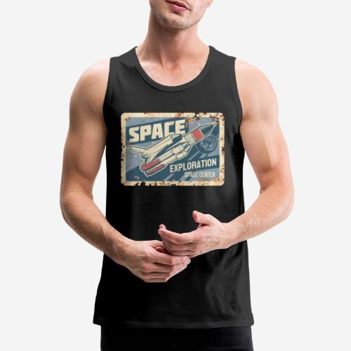 space ship explorer - Männer Premium Tank Top