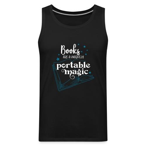 0030 books are unique magic | Magic - Men's Premium Tank Top