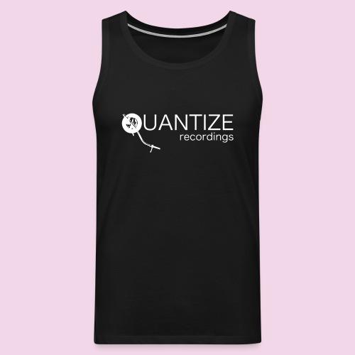 Quantize White Logo - Men's Premium Tank Top