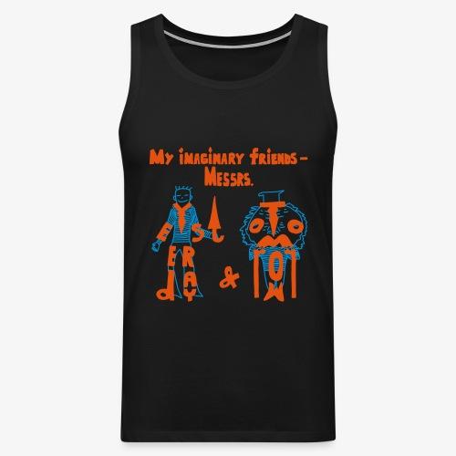 My imaginary friends T-shirt - Männer Premium Tank Top