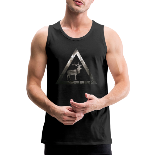 Mystical Forest Deer Triangle - Männer Premium Tank Top