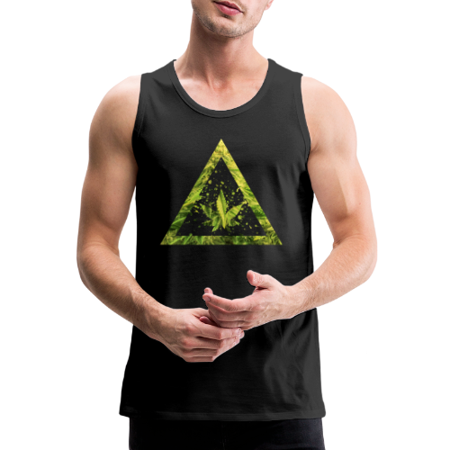 Marijuana Cannabisblatt Triangle with Splashes - Männer Premium Tank Top
