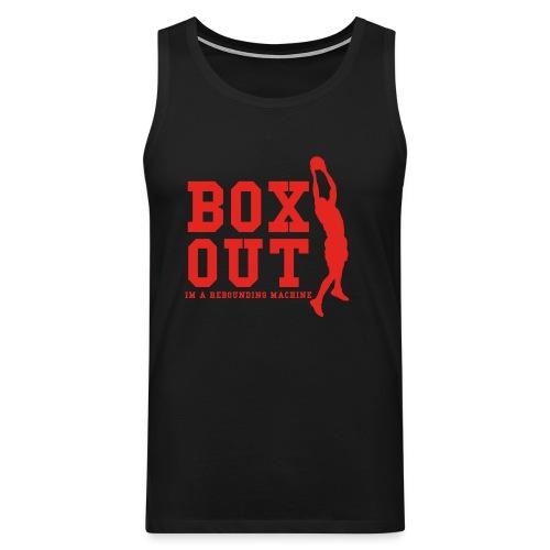 Box Out Red - Premiumtanktopp herr