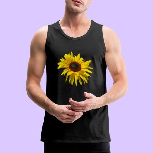 blühende Sonnenblume, Sonnenblumen, Blumen, Blüten - Männer Premium Tank Top