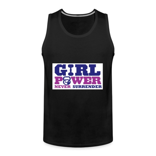 GIRL POWER NEVER surrender 01 - Tank top premium hombre