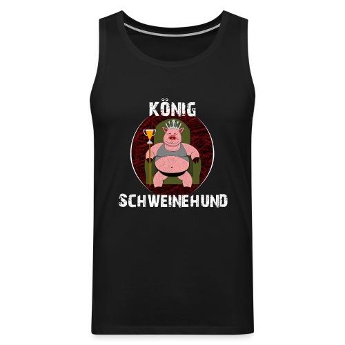 König Schweinehund BLACK - Men's Premium Tank Top