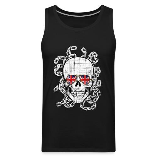 skull union jack sg chains distressed - Men's Premium Tank Top