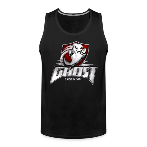 ghost textur schwarzes shirt - Männer Premium Tank Top