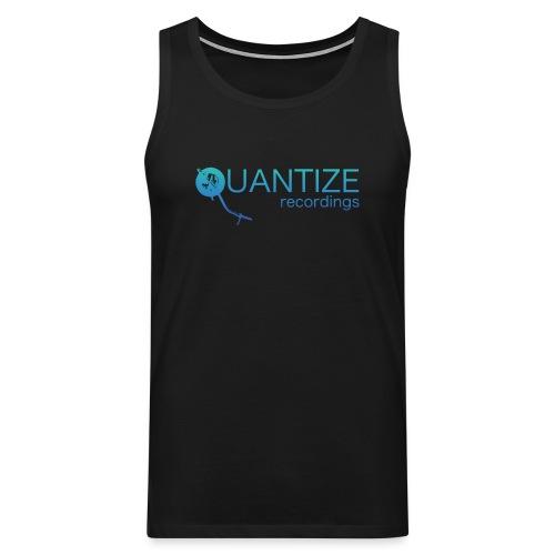 Quantize Gradient Teal/Turquoise Blue Logo - Men's Premium Tank Top