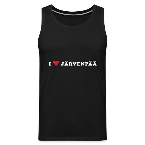 I LOVE JARVENPAA - Miesten premium hihaton paita