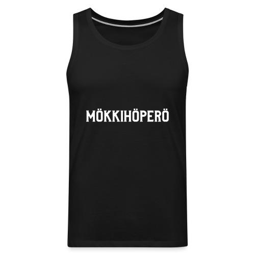 mokkihopero - Miesten premium hihaton paita