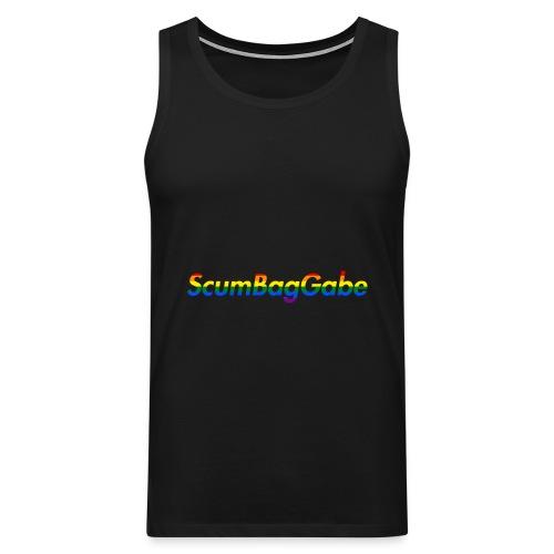 ScumBagGabe Multi Logo XL - Men's Premium Tank Top