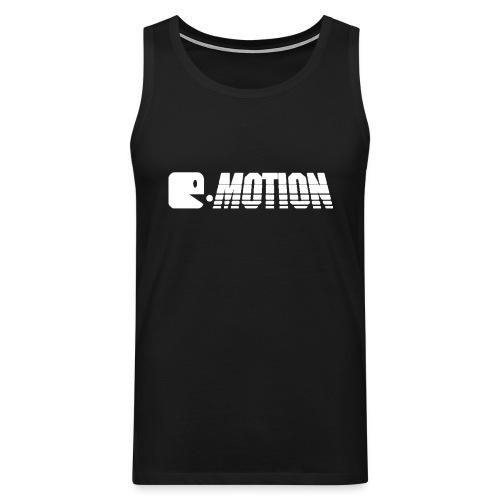 E MOTION LOGO T Shirt WEISS gif - Männer Premium Tank Top