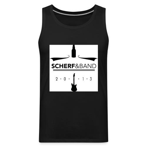Scherf Sticker Logo sw1 jpg - Männer Premium Tank Top