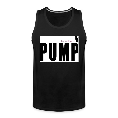 pump button by blondbeats - Männer Premium Tank Top