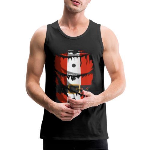 Tela rasgada con traje de Papá Noel - Tank top premium hombre