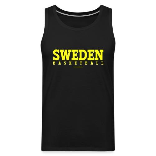 Sweden Basketball Yellow - Premiumtanktopp herr