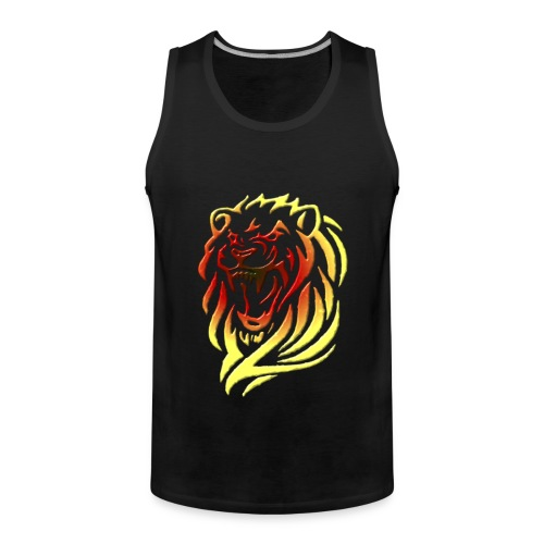 tribal lion head - Débardeur Premium Homme
