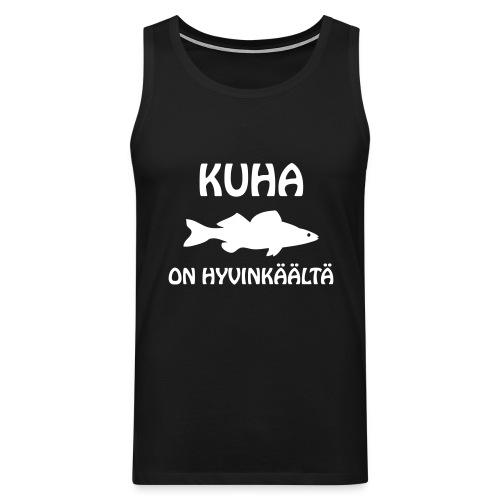 KUHA ON HYVINKÄÄLTÄ - Miesten premium hihaton paita