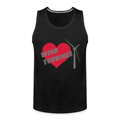 wind turbine grey - Men's Premium Tank Top