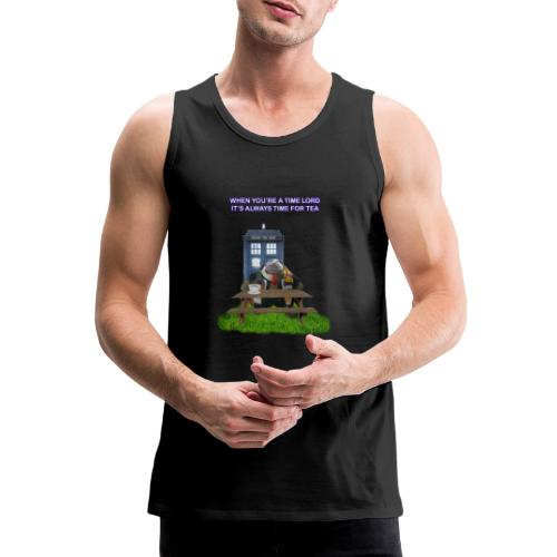 TIME AND SPACE AND TEA - Men's Premium Tank Top