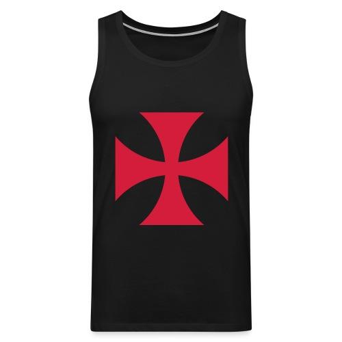 The Templar Cross Shirt - Männer Premium Tank Top