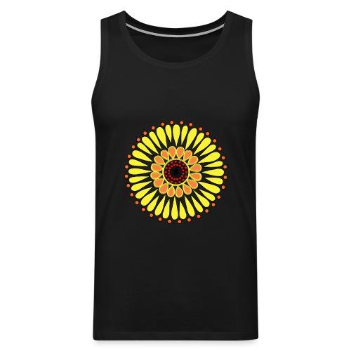 Yellow Sunflower Mandala - Men's Premium Tank Top